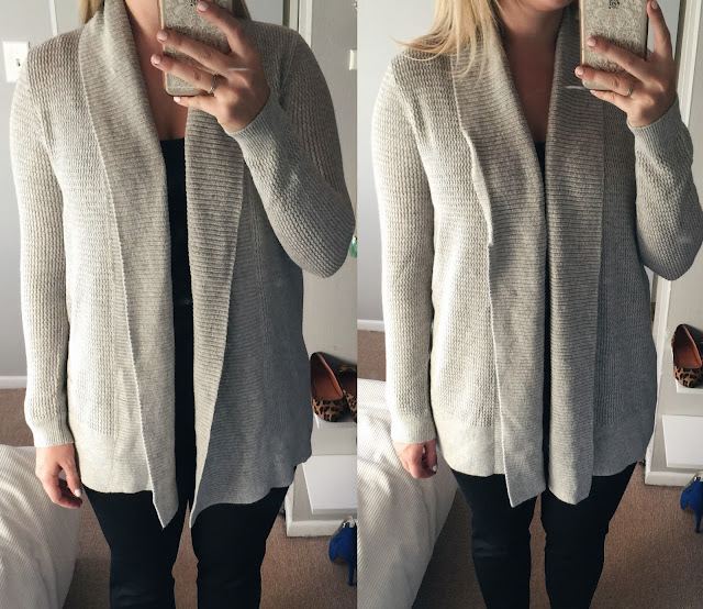 loft textured-open-cardigan