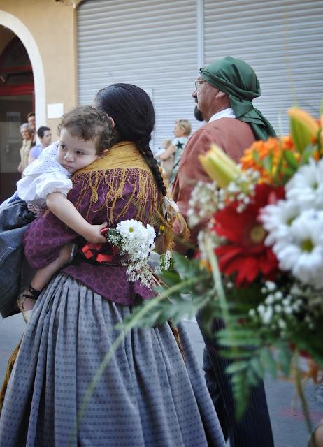 El Campello ofrenda flores virgen del Carmen 2012