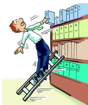 Seguridad e higiene en la oficina 3 seguridad en la oficina - Escaleras de trabajo ...