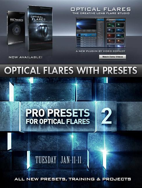 VideoCopilot - Optical Flares 1 for AE & Optical Flares Pro Presets 2