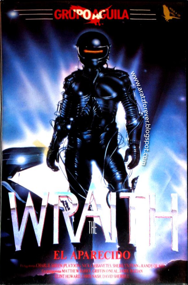 El aparecido (The wraith), Charlie Sheen, Mike Marvin, Sherilyn Fenn