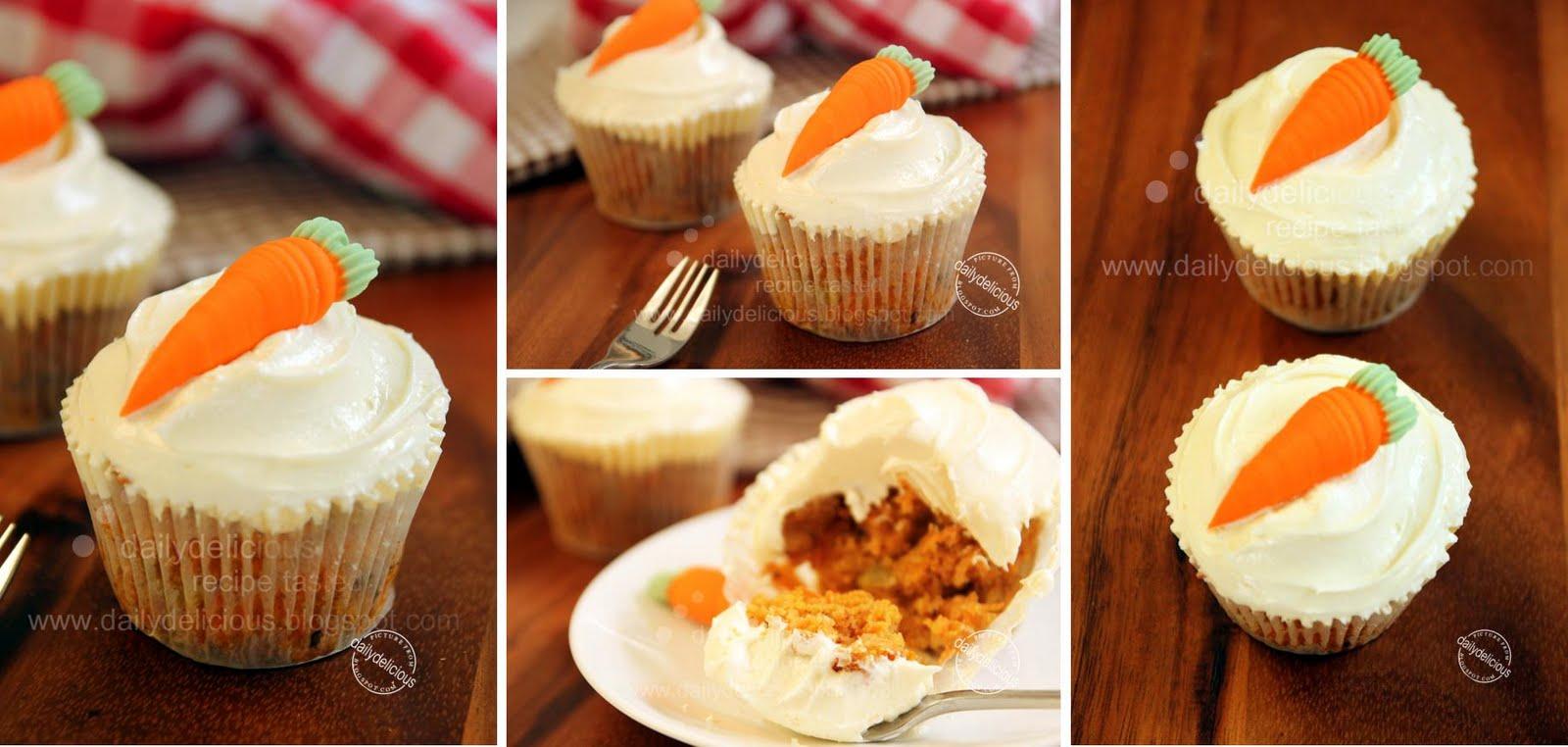 Cute Carrot Cake Cupcakes