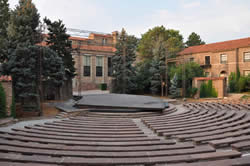 photo of the Mary Rippon outdoor theatre at the University of Colorado in summer.