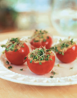 Avocado and Sprout-Stuffed Tomatoes
