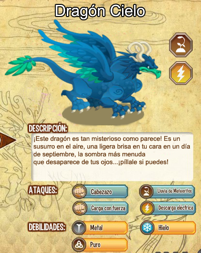 Dragon Cielo | Amigos Para Dragon City