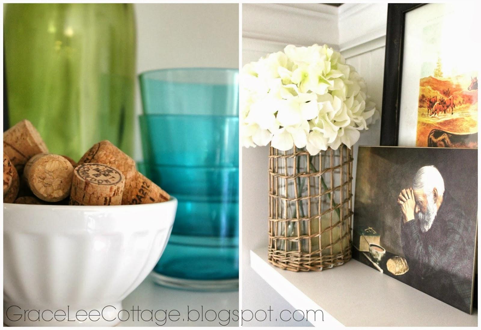 Grace Lee Cottage: Kitchen Shelf Styling {Winter Edition}