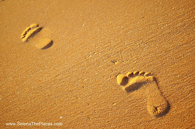 Footprints Sand Portugal