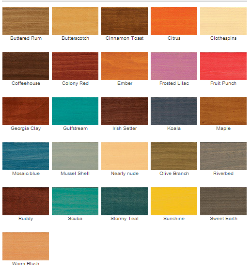 Exterior Wood Stain Colors Lowes