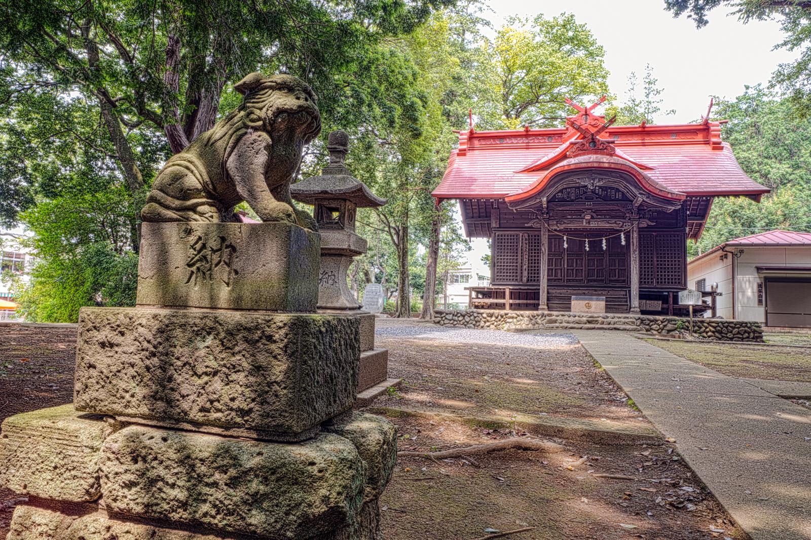元町八幡神社の狛犬の写真