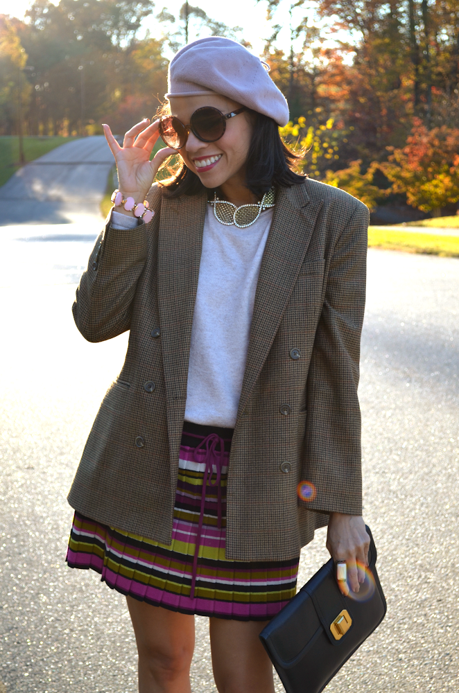 Brown Houndstooth Jacket
