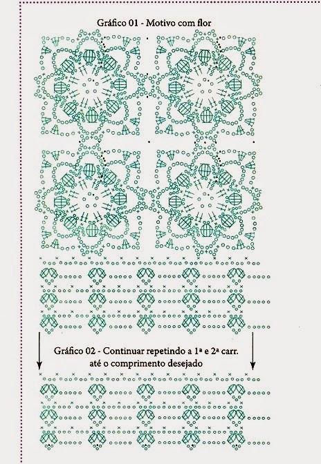 Top Crochet Flores relieve punto cuadrado - Paso a Paso | Patrones ...