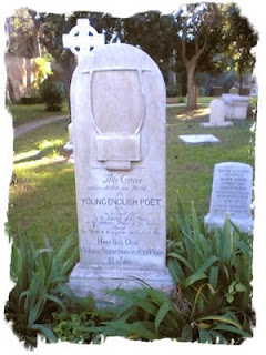 Tomba di John Keats al cimitero inglese a Roma