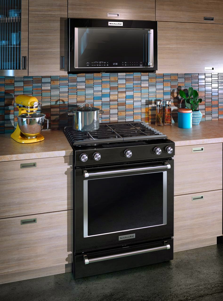 range and otr hood combo shown in kitchen
