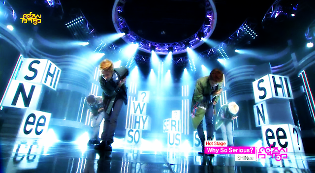Shinee Why So Serious? Music Core screencap 130427