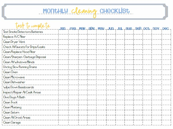 House Cleaning A Free Free Printable House Cleaning List