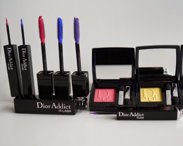 Dior's latest eye makeup for summer 2014 features limited edition pop hues.