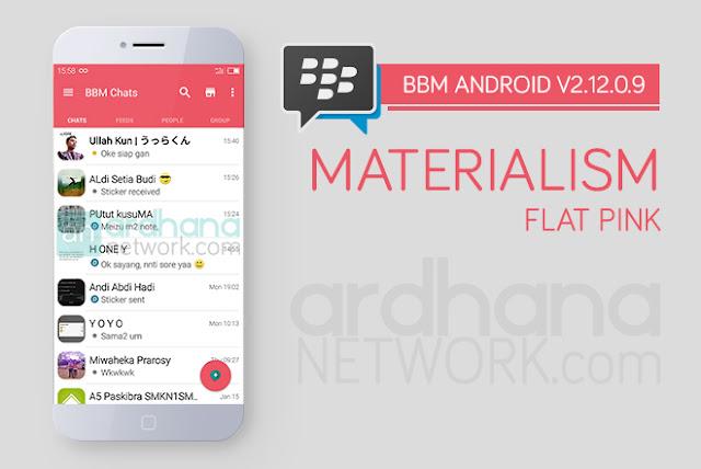 BBM Materialism Pink - BBM Android V2.12.0.9