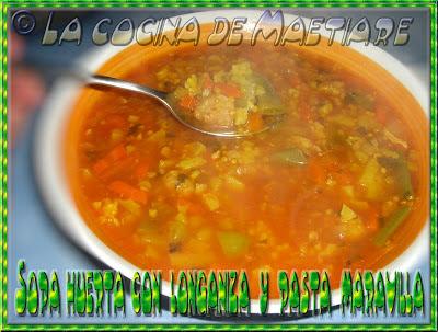 sopa huerta con longaniza y pasta maravilla Sopa+huerta+con+longaniza+y+pasta+maravilla