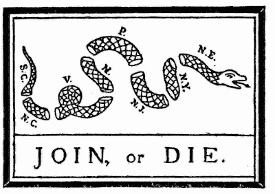 Join Or Die Snake Only The sections of the snake