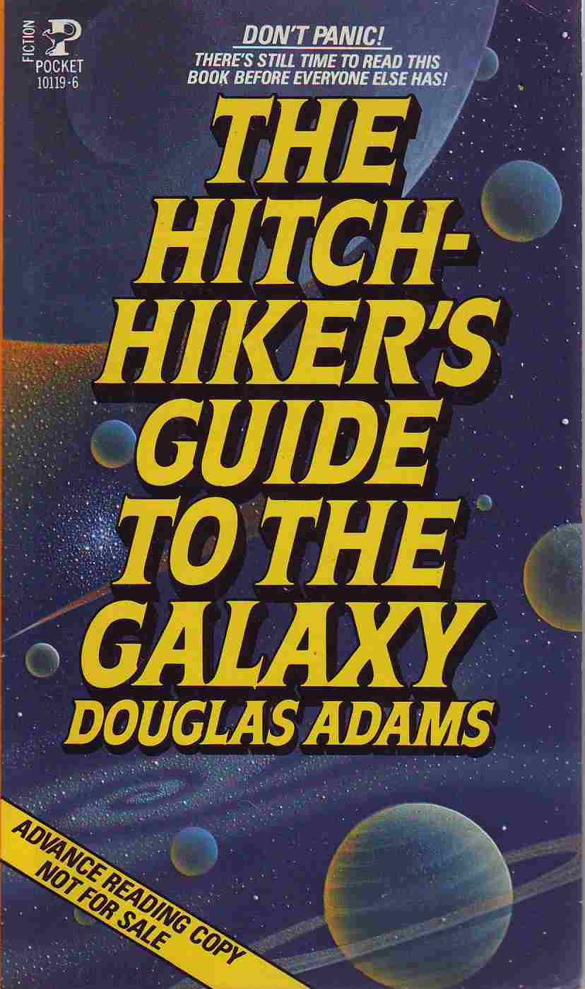an analysis of hitchhikers guide to the galaxy by douglas adams Plot summary: the hitchhikers guide to the galaxy opens up with arthur dent  who is about to get his house torn down by bulldozers, but what he doesn't know .