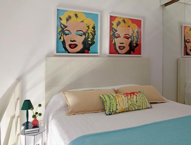 branco para deixar o quarto mais amplo As cores em pequenos detalhes