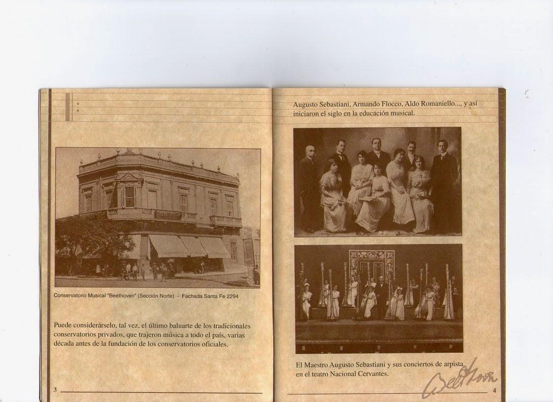 FOTO DEL MAESTRO SEBASTIANI, Y CONSERVATORIO BEETHOVEN