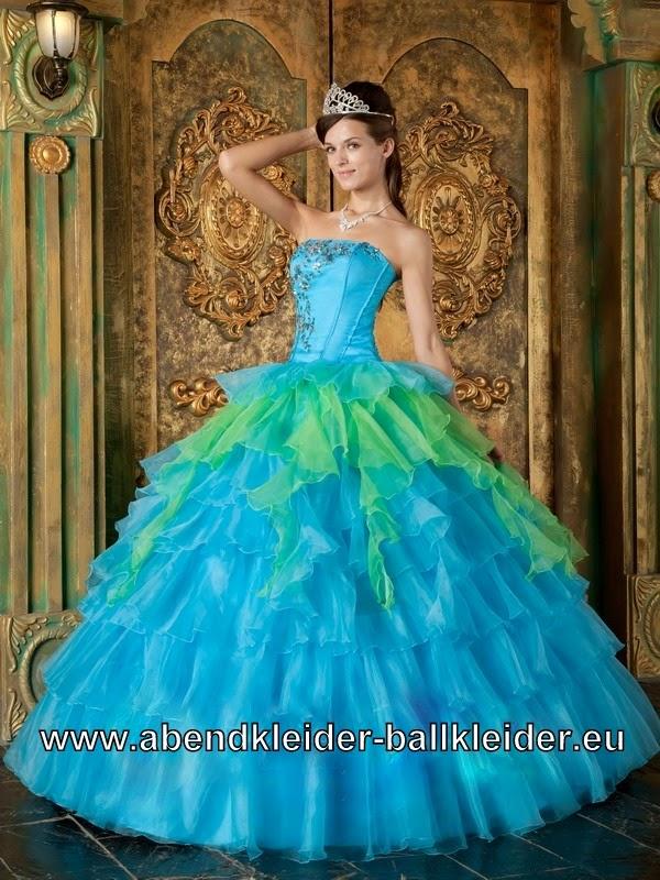 Sissi Abendkleid Ballkleid BrautkleidQuinceanera Dresses Turquoise And Lime Green