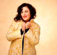 singer-poet Lisa B (Lisa Bernstein) photographed for her holiday CD of 2011