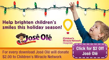 Jose Ole, Coupon, Children's Miracle Network, Donation