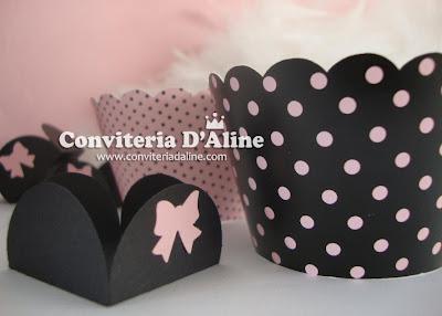 artigos festa cha lingerie rosa preto