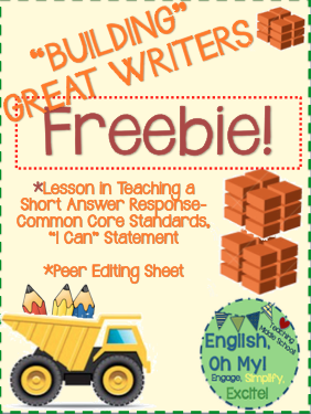 https://www.teacherspayteachers.com/Product/FREEBIE-Lesson-on-Short-Answer-Response-WritingPeer-Editing-1946393""