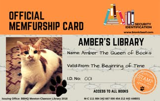 Amber's Official Library Card