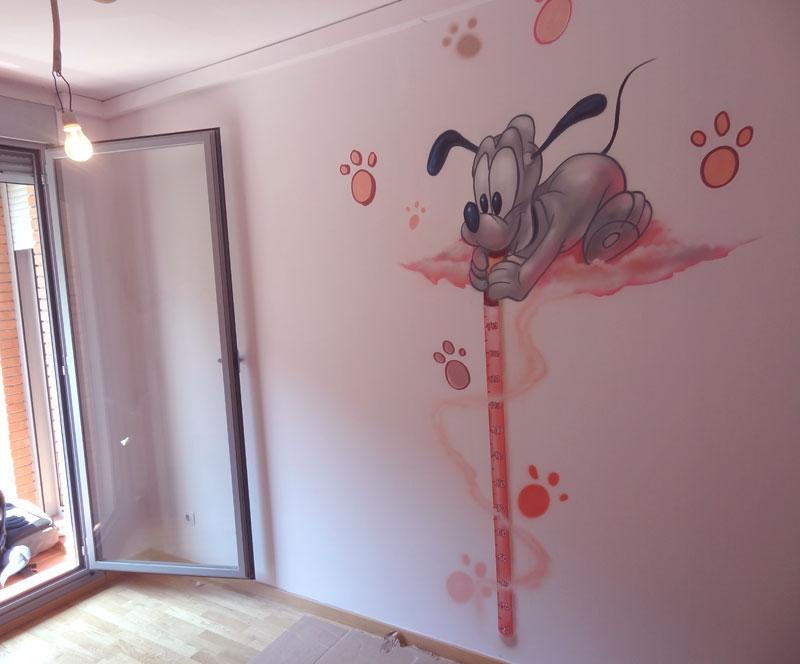 Berok graffiti mural profesional en barcelona habitaci n - Dibujos habitacion bebe ...