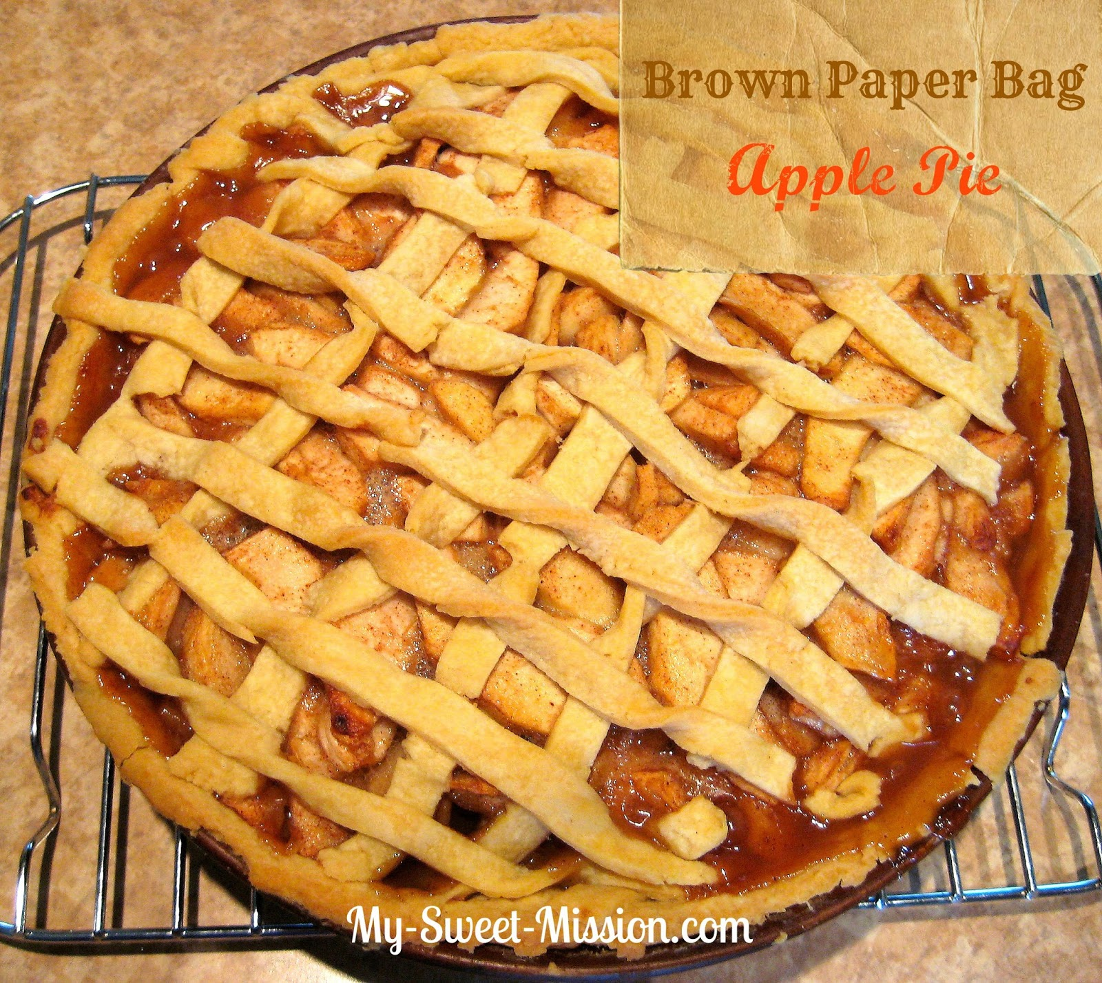Brown Paper Bag Apple Pie at MySweetMission.net