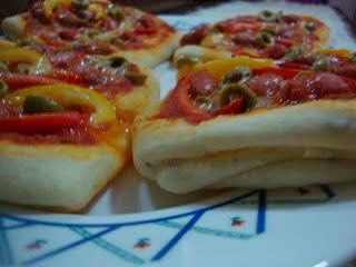 بيتزا بعجينة المسمن