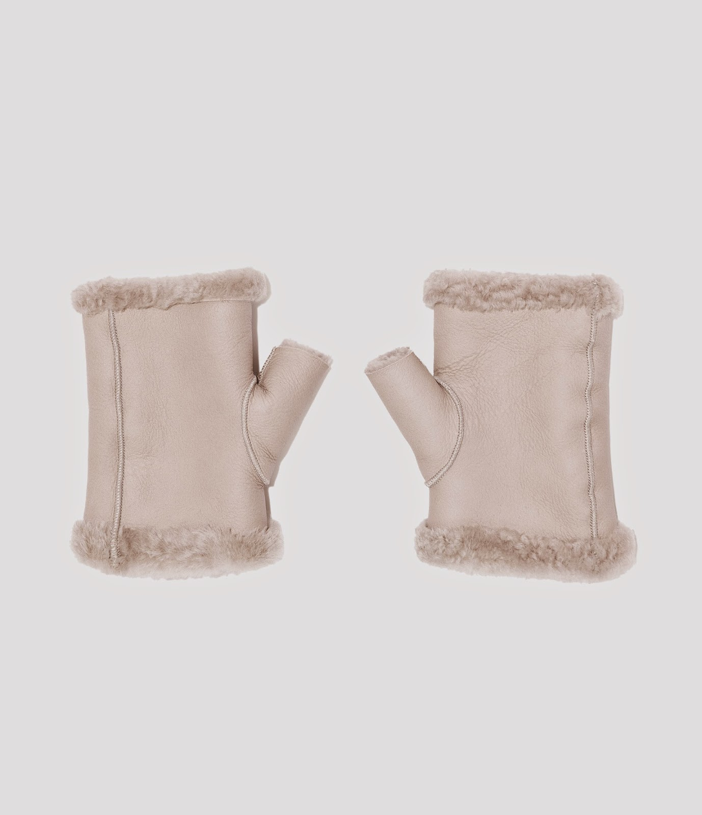 sheepskin mittens grey