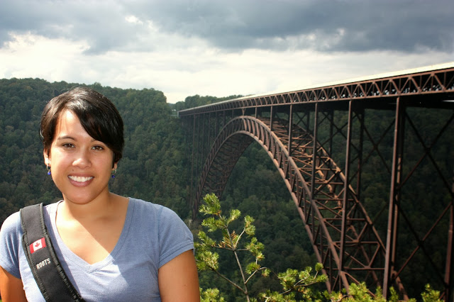 Kristina at New River Gorge bridge