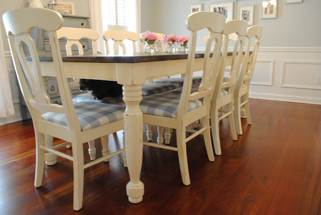 Dining table refinish dining table paint for How to redo dining room chairs