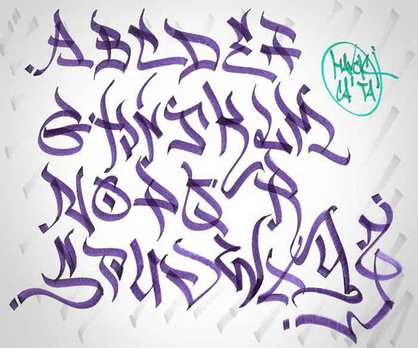 4 Style of Tag Graffiti Letters A-Z || Graffiti Tutorial