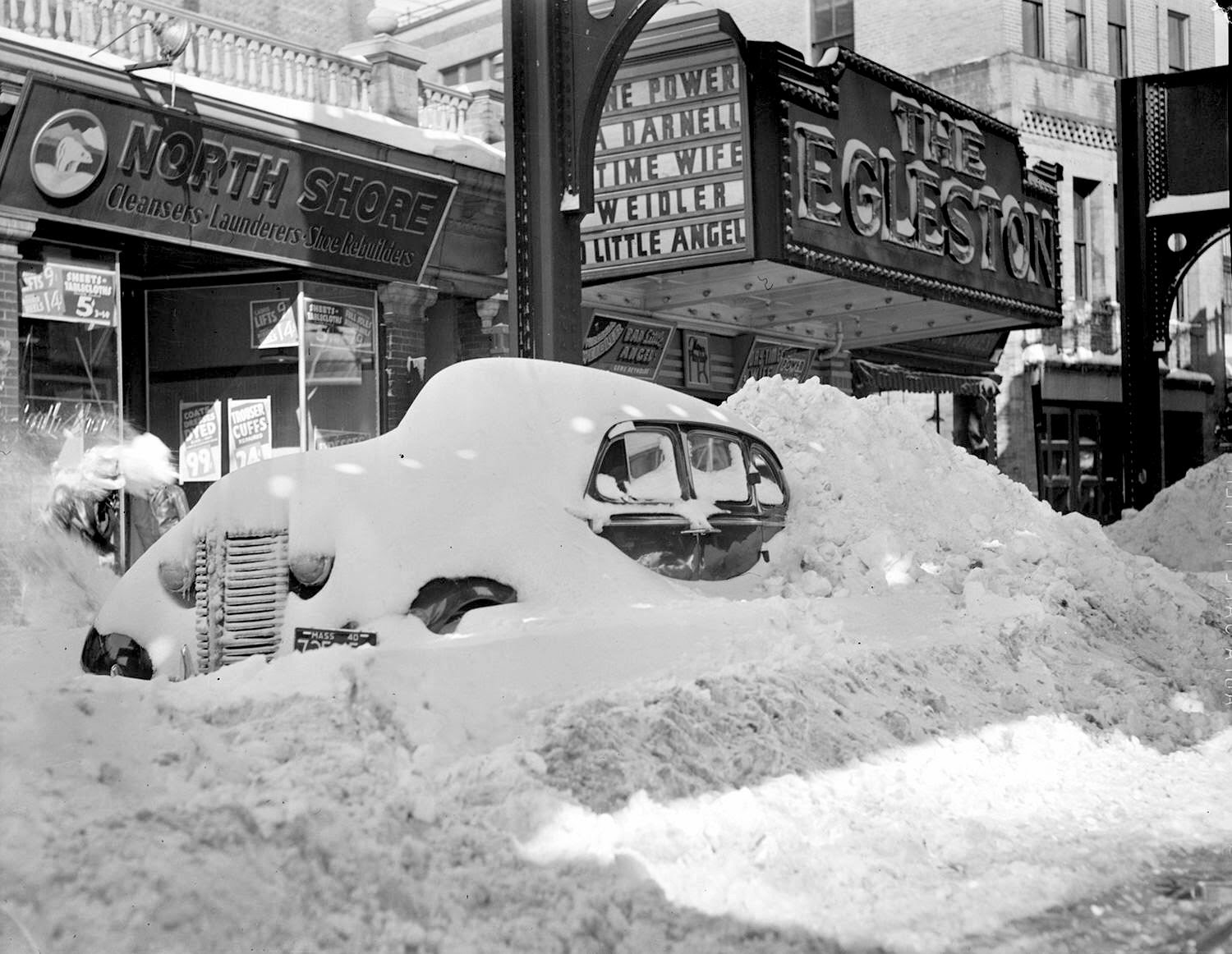Wintry Boston in the 1950s