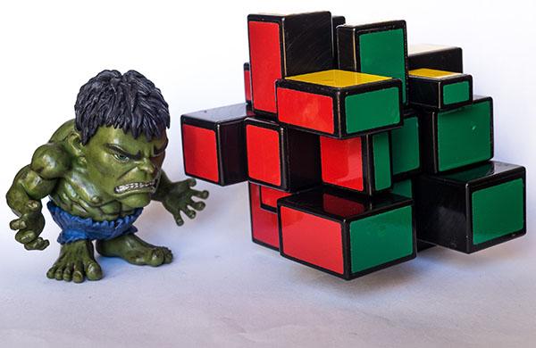 Horror Mirror Stickers - Rubik Mirror 2 soluciones en vacaciones verano 2015 3x3x3 unboxing