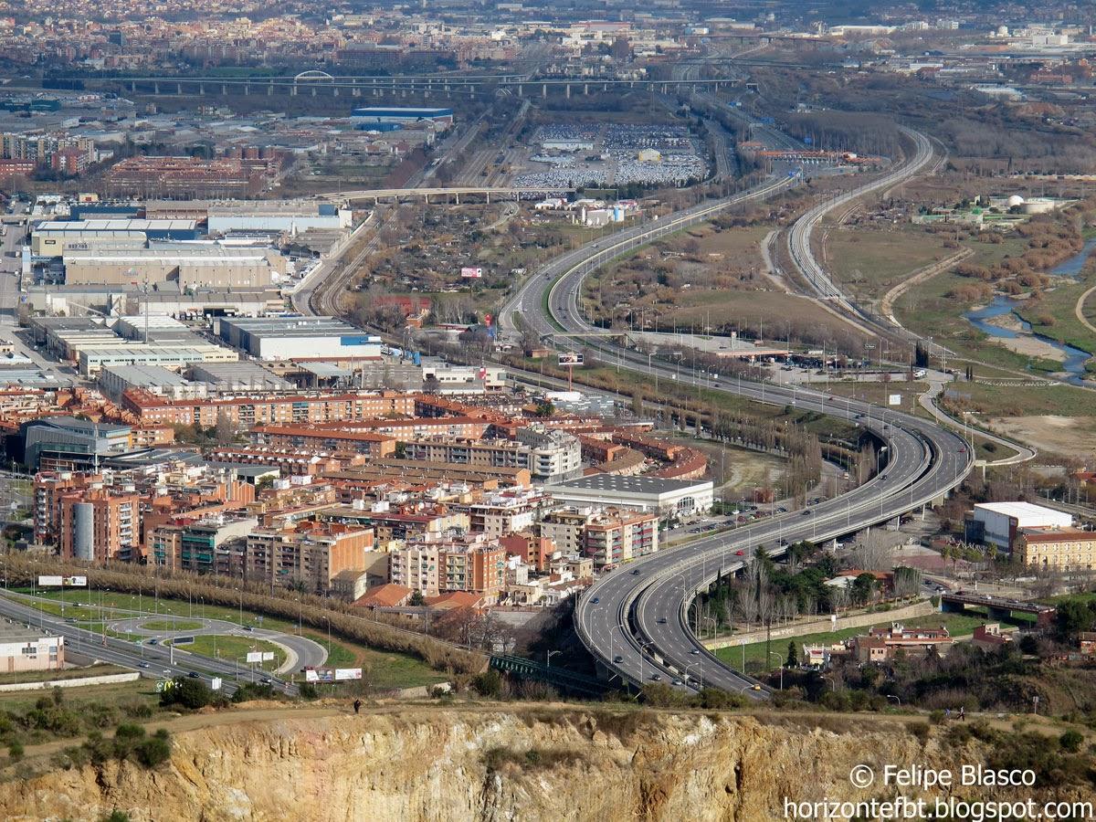 Autopista C33, desde la montaña de Montcada