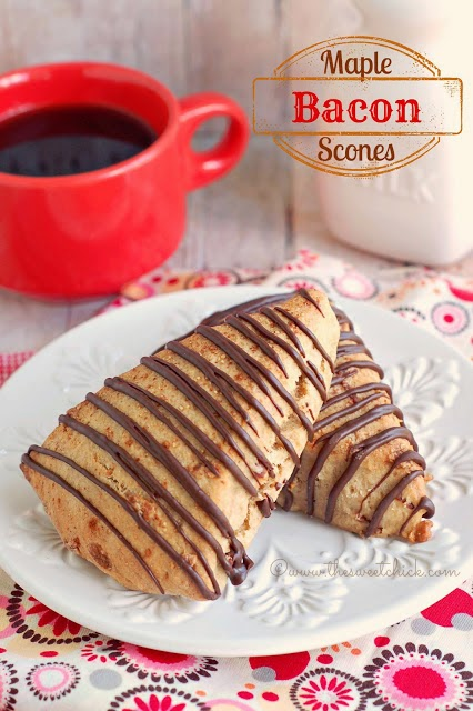 Maple Bacon Scones by The Sweet Chick
