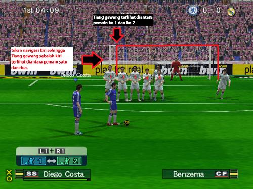 trik melakukan tendangan bebas langsung gol