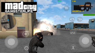 Screenshots of the Mad city: Gangster life for Android tablet, phone.
