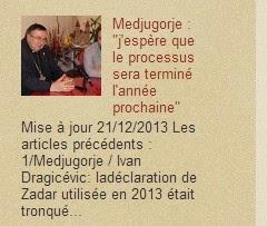 """Medjugorje actualités : """"j'espère que le processus sera terminé l'année prochaine"""""""