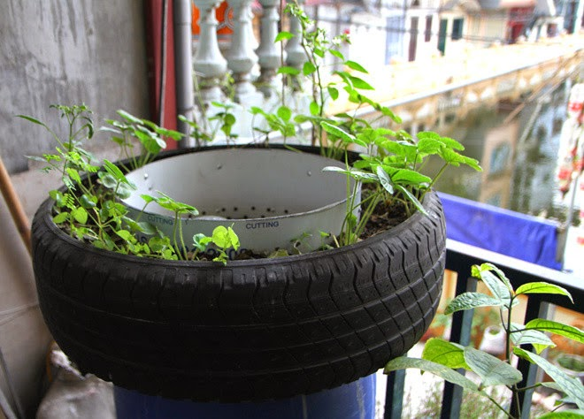 design the garden with old tires | Vietnam Outdoor Furniture