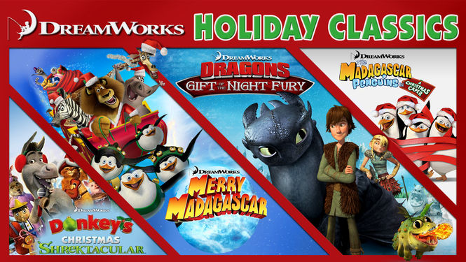 dreamworks holiday classics four animated shorts about half hour each that feature christmas and holiday stories about some of your favorite characters - Classic Animated Christmas Movies
