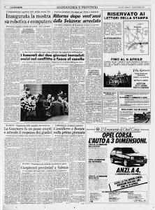 LA STAMPA 28 MARZO 1985