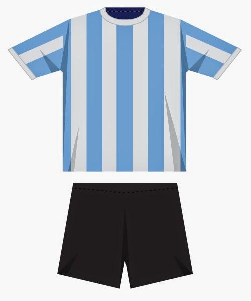 Los Uniformes de las Selecciones del Mundial Brasil 2014, Argentina
